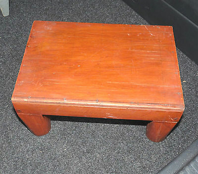 Varnished wooden small step or child's stool