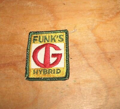 Vintage Machine Stitched FUNKS G Hybrid Seed Corn Patch 2 X 2 1/2 inches