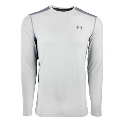 Under Armour Men's Raid L/S Fitted Tee White/Steel M