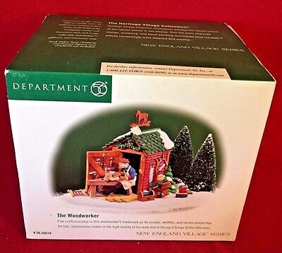 The Woodworker Dept 56 New England Village 56619 retired Christmas snow complete