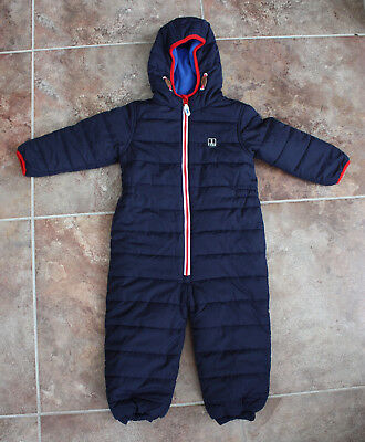 Boys Next SNOW SUIT all in one aged 2-3 - Height 98cm - hardly worn fleece lined