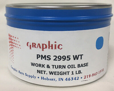 Graphic Pms 2995 Wt Nice Sky Blue Oil Base 1 Lb
