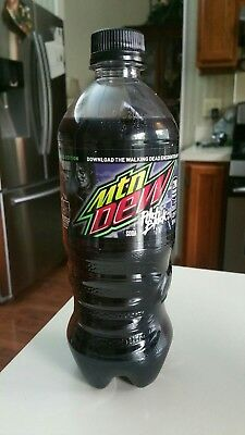 walking dead pitch black mtn dew mountain dew 20 oz bottle