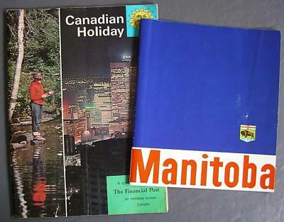 Lot of Two Vintage Manitoba Travel Brochure & 1965 Canadian Holiday Magazine