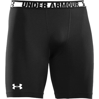 under armour mens heatgear sonic compression shorts anti-odor black pick size