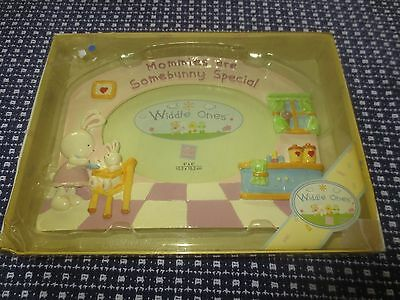 NIB RUSS Widdle Ones MOMMIES ARE SOMEBUNNY SPECIAL Hand Painted Photo Frame