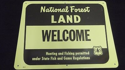 Us Forest Service Welcome Metal Sign