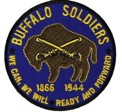 Us Army Buffalo Soldiers 9Th 10Th Cavalry Rgt Patch African American Black