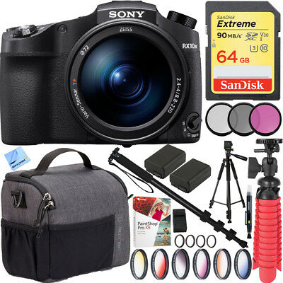 Sony RX10 IV Cyber-Shot Zoom 20.1MP Camera 24-600mm F.2.4-F4 lens Filter Kit