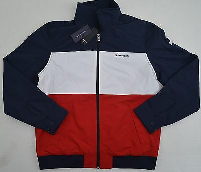 NWT Youth / Kids's Tommy Hilfiger Flag Yacht Jacket Outerwear Hoodie WaterStop