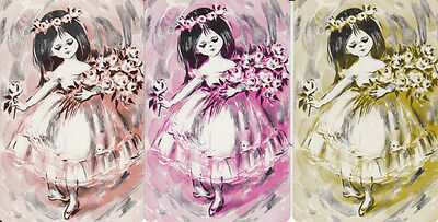 Vintaqe Swap / Playing Cards - 3 SINGLE- BALLET KIDS - GIRL