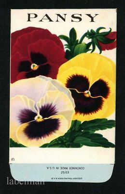 PANSY, Stock Antique Seed Packet, Country Store, 241