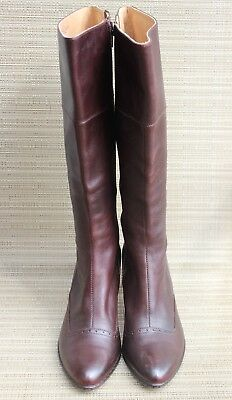 Sofft Women's Knee High Heel Chocolate Brown Zipper Boots Size 8 M