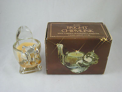 AVON  BRIGHT CHIPMUNK Spice Garden Fragrance Candlette Candle - Glass New in Box