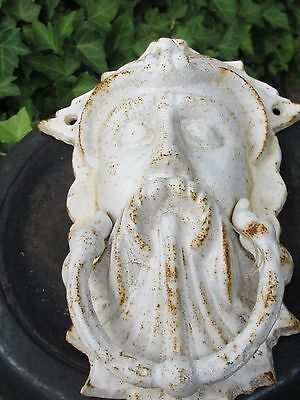 Antique Vintage Cast Iron Door Knocker Northwinds Face
