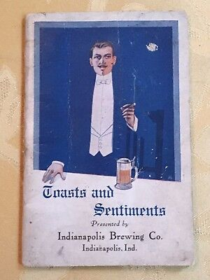 1913 Indianapolis Brewing Company (1887-1948) Toasts And Sentiments Booklet