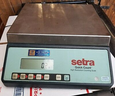 Setra Quick Count High Resolution Counting Scale 27lb. 12.5kg Capacity