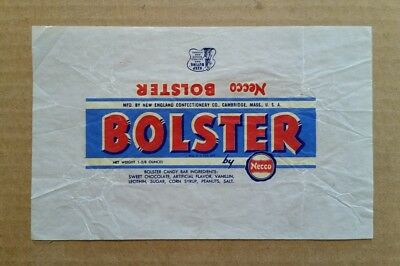 """""""Bolster"""" Candy Bar Wrapper,New England Confectionery Co.Cambridge,MA.,1940's"""