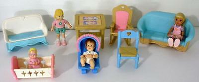 Fisher Price Loving Family Figures And Furniture Lot