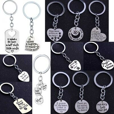 Hot Keyring Keychain Key Chain Jewelry Family Pet Moon Mom Dad BFF Grandma Gift