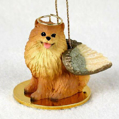 POMERANIAN (RED) ANGEL DOG CHRISTMAS ORNAMENT HOLIDAY  Figurine Statue