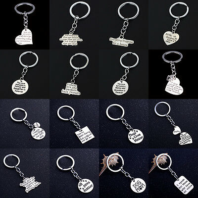 Compass Apple Heart Keyring Keychain Key Chain Pet Paw Jewelry Love Sis Mom Dad