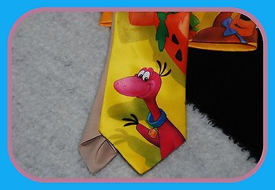 Ralph Marlin Neck Tie Vintage Fred Flintstones Dino Yogi Bear Boo Bo Cartoon USA