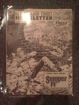 New England Comics Newsletter Issue 35 - August 1988 - Publisher of THE TICK