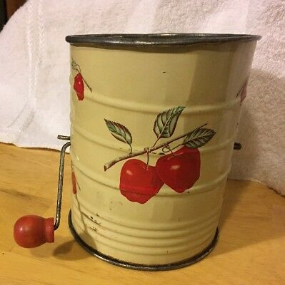 Vintage Sifter Decorated with Apples