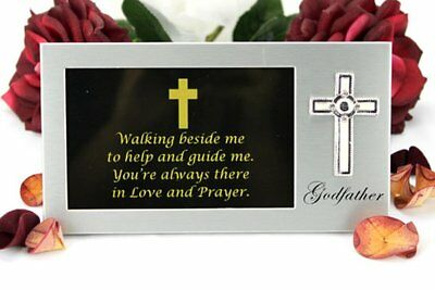 Godfather Photo Frame Gift with message | Christening Gift