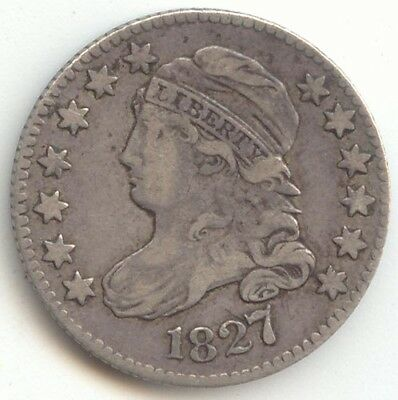 1827 Capped Bust Dime, Nice VF