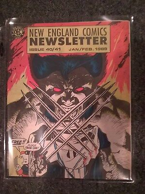 New England Comics Newsletter Issues 40 / 41 - Jan / Feb 1989 Wolverine Punisher