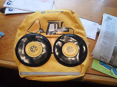 John Deere Construction Loader School Backpack Book Bag Boys Toddler Yellow