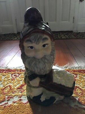 "Antique Gnome Standing style 18"" early 20th Century Great Find"
