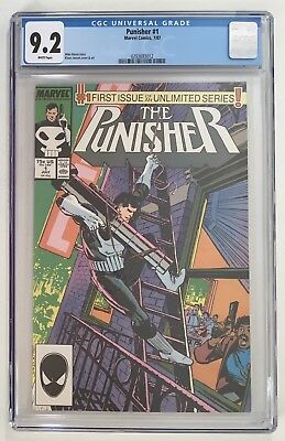 Punisher #1 - CGC 9.2, 1987, White Pages, FIRST ISSUE in UNLIMITED Series
