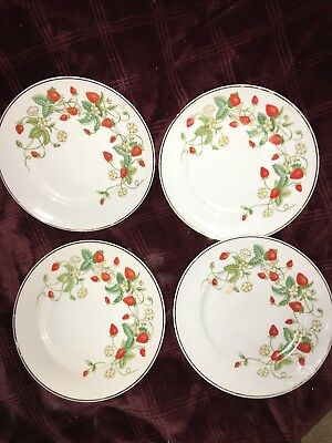 VINTAGE 1978 avon strawberry 22k plate (lot of 4)
