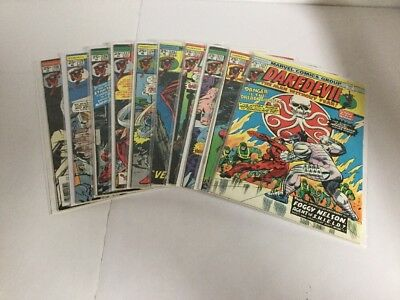 Daredevil 121-130 Lot Set Run Fn-Vf Fine-Very Fine 6.0-8.0 Marvel Comics