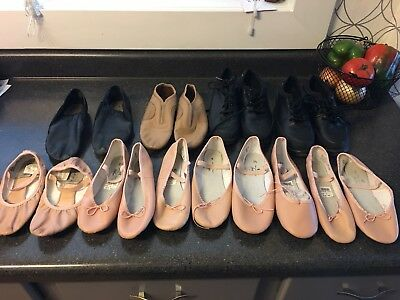 Lot Of dance Shoes. various sizes. some new some used