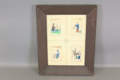 One Of A Pair Early 19Th C China Trade W/c Paintings Of Oriental Tradesmen 1/2