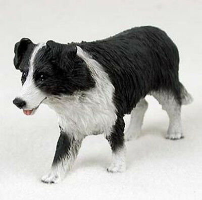 BORDER COLLIE  DOG Figurine Statue Hand Painted Resin Gift Pet Lovers