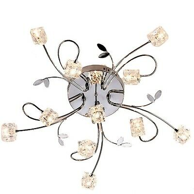 DINGGU Flush Mount Modern Dimmable Ceiling Chandelier Lighting with 11 Lights...
