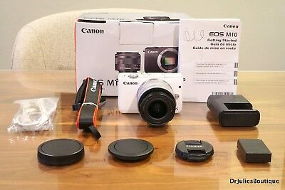 Canon EOS M10 Mirrorless Camera Kit w/ EF-M 15-45mm IS STM Len in Box ~MINT