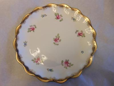 SUPERB Antique Wedgwood Porcelain plate 1895~Miniature Roses/gilt edge~Oakleigh