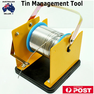Solder Wire Dispenser Reel Holder Stand Tin Management Tool Spool Feeder