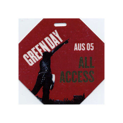Green Day authentic 2004 Laminated Backstage Pass American Idiot Australia Tour