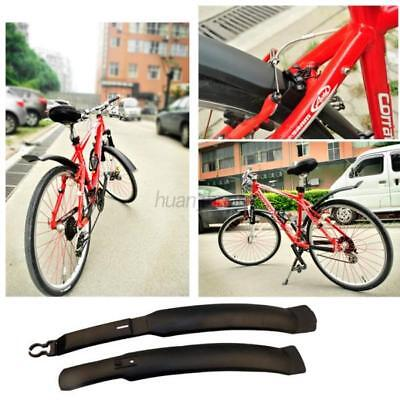 AU 2Pcs Bicycle Road Bike Cycling Fenders Set Front Rear Mudguard Guards New