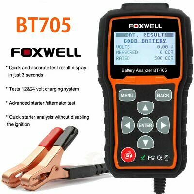 FOXWELL BT705 12V&24V 100-2000 CCA Car Battery Load Tester Cranking Charging Sys