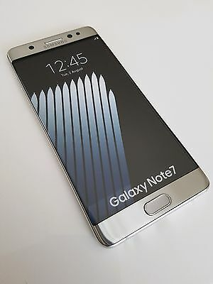 Smartphone Téléphone Mobile Factice Samsung Galaxy Note 7 Silver Argent NEUF