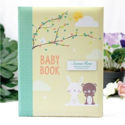Personalised Baby 5yr Record Book  - Add a Name & Message