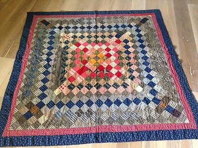 Antique QUILT 68 X 68 Inches Hand  Quilted Finished